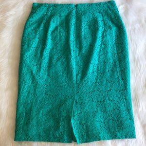 Ann Taylor Skirts - Ann Taylor • Green Lace Pencil Skirt